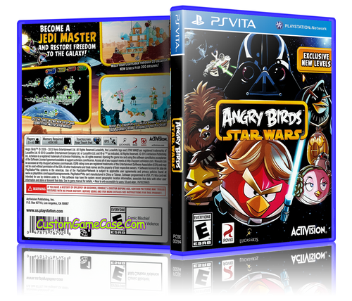 Angry Birds Star Wars - Sony PlayStation PS Vita - Empty Custom Replacement Case