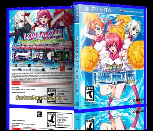 Arcana Heart 3 Love Max - Sony PlayStation PS Vita - Empty Custom Replacement Case