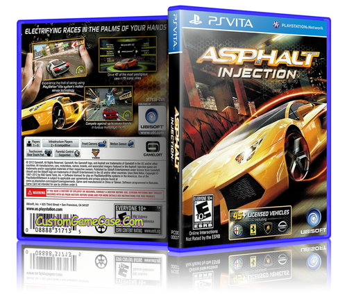 Asphalt Injection - Sony PlayStation PS Vita - Empty Custom Replacement Case