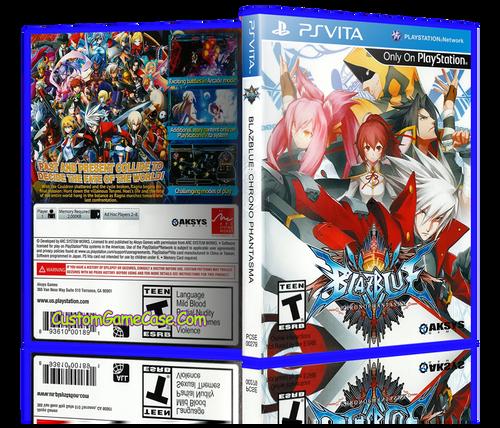 BlazeBlue ChronoPhantasm - Sony PlayStation PS Vita - Empty Custom Replacement Case