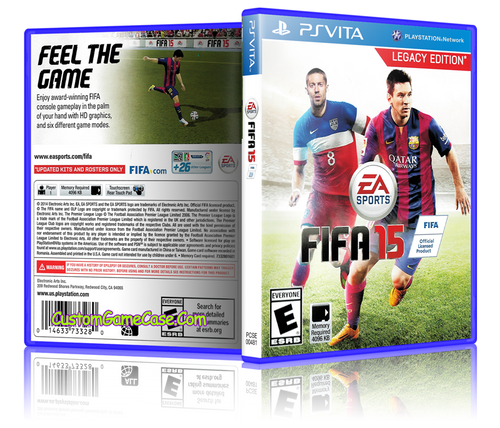 FIFA 15 - Sony PlayStation PS Vita - Empty Custom Replacement Case