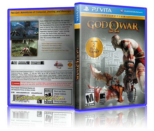 God of War Collection - Sony PlayStation PS Vita - Empty Custom Replacement Case
