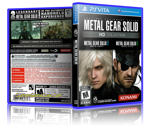 Metal Gear Solid HD Collection - Sony PlayStation PS Vita - Empty Custom Replacement Case