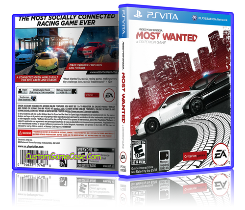 Need for Speed Most Wanted - Sony PlayStation PS Vita - Empty Custom Replacement Case