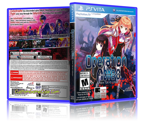 Operation Abyss - Sony PlayStation PS Vita - Empty Custom Replacement Case