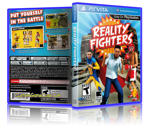 Reality Fighters - Sony PlayStation PS Vita - Empty Custom Replacement Case