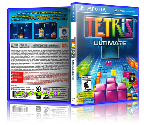 Tetris Ultimate - Sony PlayStation PS Vita - Empty Custom Replacement Case