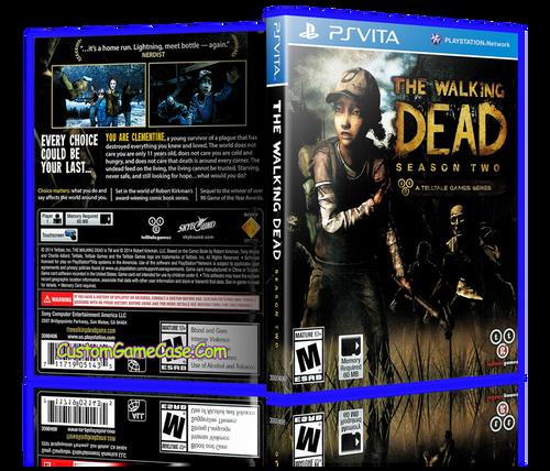 The Walking Season 2 - Sony PlayStation PS Vita - Empty Custom Replacement Case