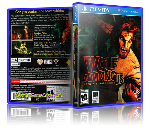 The Wolf Among Us - Sony PlayStation PS Vita - Empty Custom Replacement Case