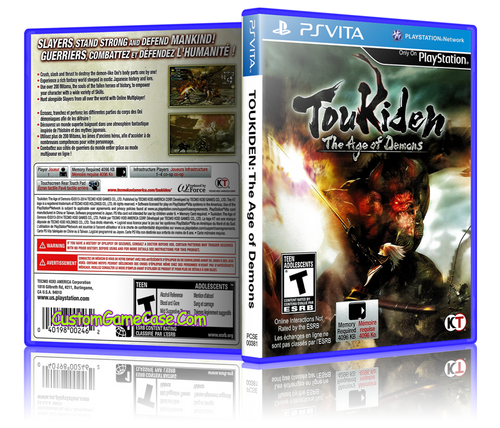 Toukiden The Age of Demons - Sony PlayStation PS Vita - Empty Custom Replacement Case