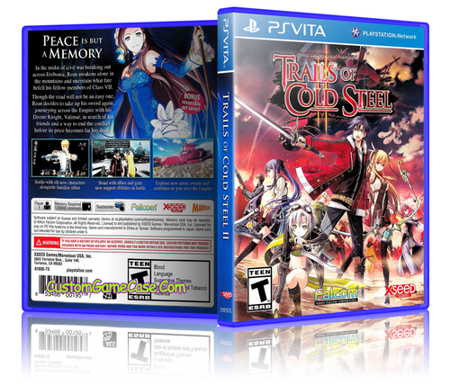 Tales of Cold Steel II - Sony PlayStation PS Vita - Empty Custom Replacement Case