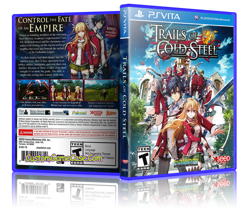 Tales of Cold Steel - Sony PlayStation PS Vita - Empty Custom Replacement Case