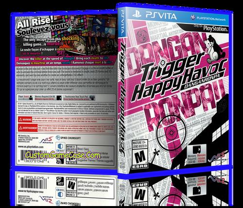 Trigger Happy Havoc - Sony PlayStation PS Vita - Empty Custom Replacement Case