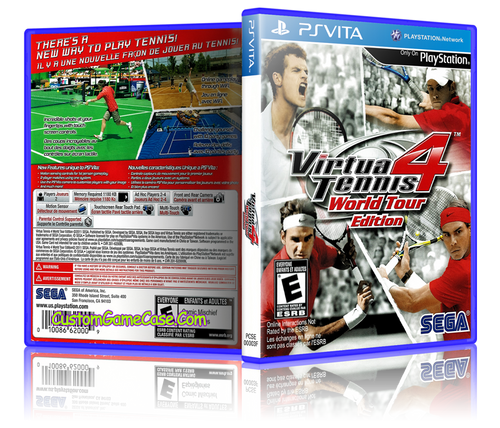 Virtua Tennis 4 - Sony PlayStation PS Vita - Empty Custom Replacement Case