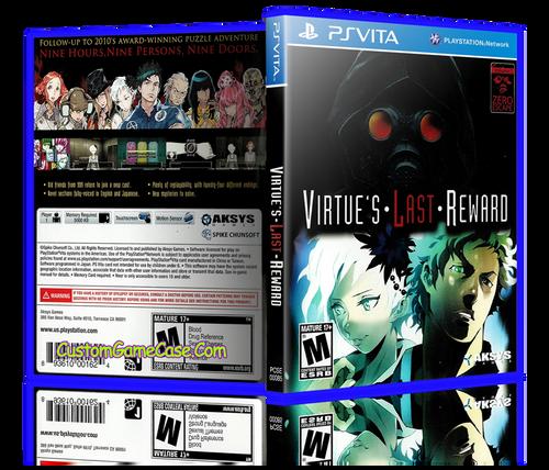 Virtue's Last Reward - Sony PlayStation PS Vita - Empty Custom Replacement Case