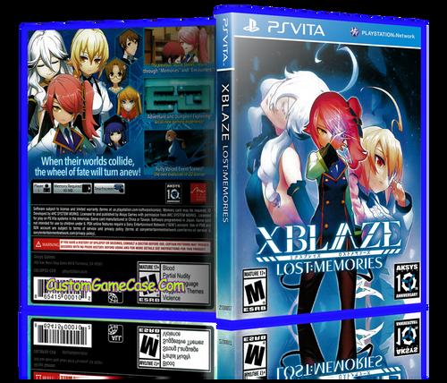 Xblaze Lost Memories - Sony PlayStation PS Vita - Empty Custom Replacement Case