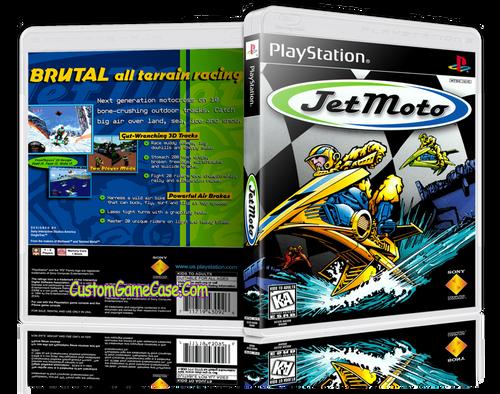 Jet Moto - Sony PlayStation 1 PSX PS1 - Empty Custom Case