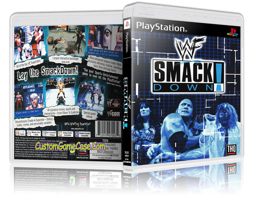WWF SmackDown - Sony PlayStation 1 PSX PS1 - Empty Custom Case