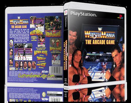 WWF WrestleMania The Arcade Game - Sony PlayStation 1 PSX PS1 - Empty Custom Case