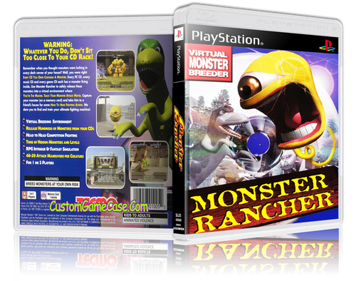 Monster Rancher - Sony PlayStation 1 PSX PS1 - Empty Custom Case