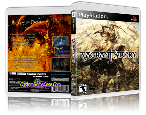 Vagrant Story - Sony PlayStation 1 PSX PS1 - Empty Custom Case