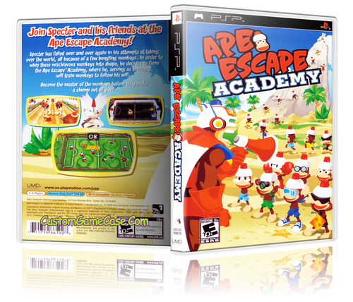 Ape Escape Academy - Sony PlayStation Portable PSP - Empty Custom Replacement Case