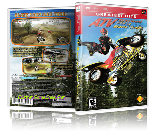 ATV Off Road Fury Blazin' Trails Greatest - Sony PlayStation Portable PSP - Empty Custom Replacement Case