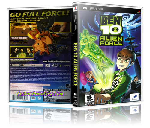 Ben 10 Alien Force - Sony PlayStation Portable PSP - Empty Custom Replacement Case