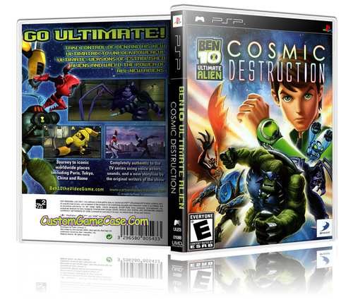 Ben 10 Ultimate Alien Cosmic Destruction - Sony PlayStation Portable PSP - Empty Custom Replacement Case