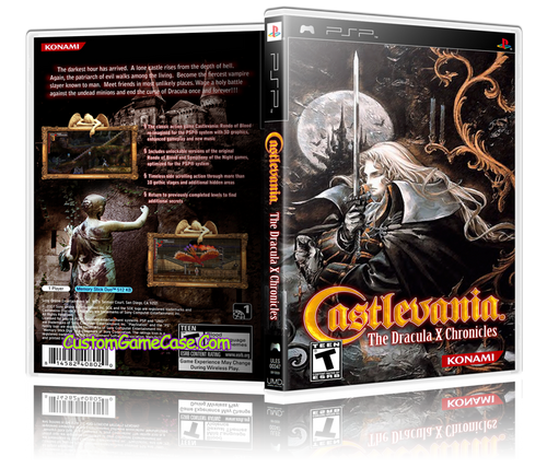 Castlevania Dracula X Chronicles - Sony PlayStation Portable PSP - Empty Custom Replacement Case