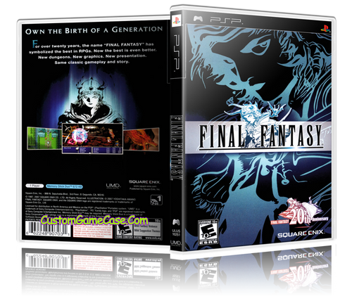 Final Fantasy - Sony PlayStation Portable PSP - Empty Custom Replacement Case