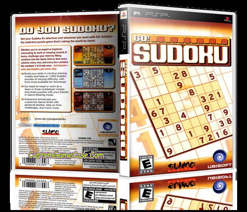 Go! Sudoku - Sony PlayStation Portable PSP - Empty Custom Replacement Case