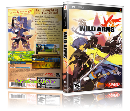 Wild Arms - Sony PlayStation Portable PSP - Empty Custom Replacement Case