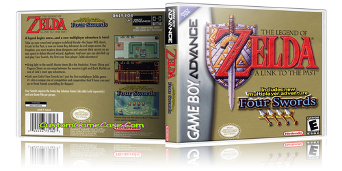 The Legend of Zelda A Link to the Past  - Gameboy Advance GBA - Empty Custom Replacement Case