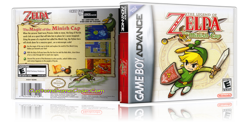 The Legend of Zelda The Minish Cap  - Gameboy Advance GBA - Empty Custom Replacement Case