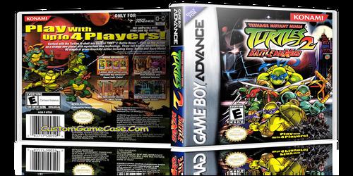 Teenage Mutant Ninja Turtles 2 Battle Nexus - Gameboy Advance GBA - Empty Custom Replacement Case