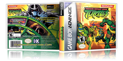 Teenage Mutant Ninja Turtles - Gameboy Advance GBA - Empty Custom Replacement Case