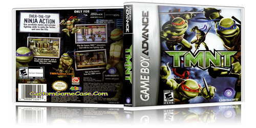 Teenage Mutant Ninja Turtles TMNT - Gameboy Advance GBA - Empty Custom Replacement Case
