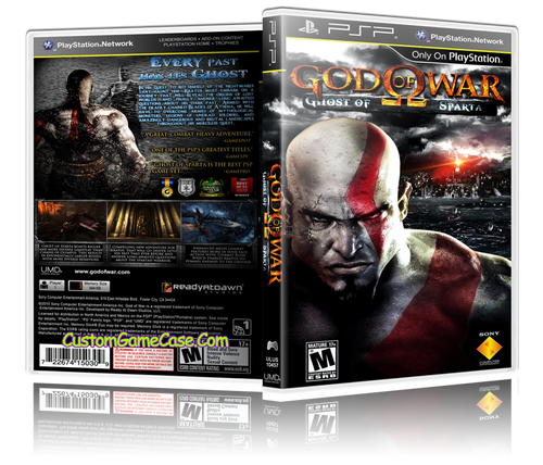 God of War Ghost of Sparta - Sony PlayStation Portable PSP - Empty Custom  Replacement Case