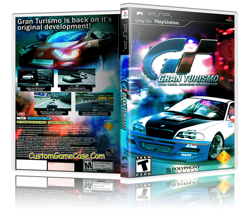 Gran Turismo - Sony PlayStation Portable PSP - Empty Custom Replacement Case