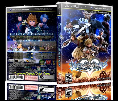 Kingdom Hearts Birth by Sleep (1) - Sony PlayStation Portable PSP - Empty Custom Replacement Case