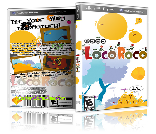 LocoRoco - Sony PlayStation Portable PSP - Empty Custom Replacement Case