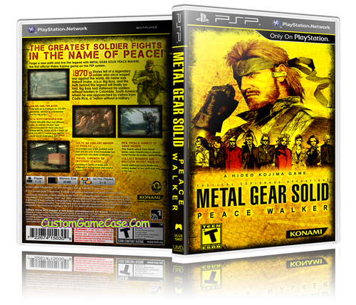 Metal Gear Solid Peace Walker (1) - Sony PlayStation Portable PSP - Empty Custom Replacement Case