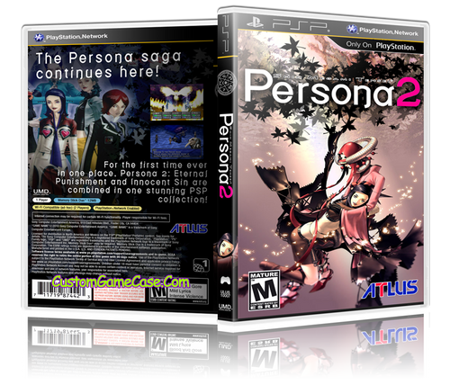 Persona 2 - Sony PlayStation Portable PSP - Empty Custom Replacement Case