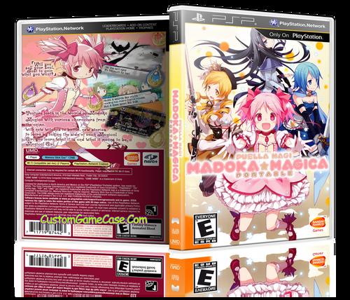Puella Magi Madoka Magica Portable - Sony PlayStation Portable PSP - Empty Custom Replacement Case