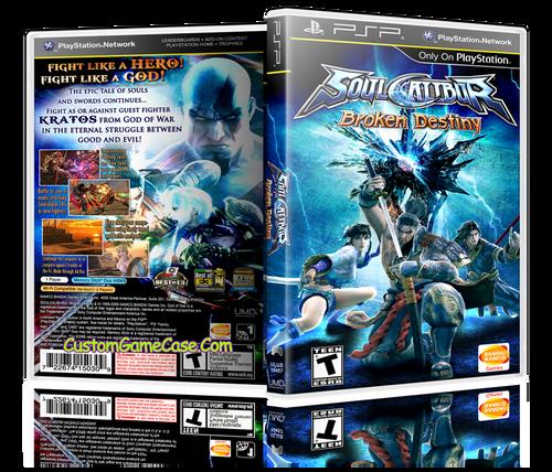 Soul Calibur Broken Destiny - Sony PlayStation Portable PSP - Empty Custom Replacement Case