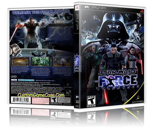 Star Wars The Force Unleashed - Sony PlayStation Portable PSP - Empty Custom Replacement Case