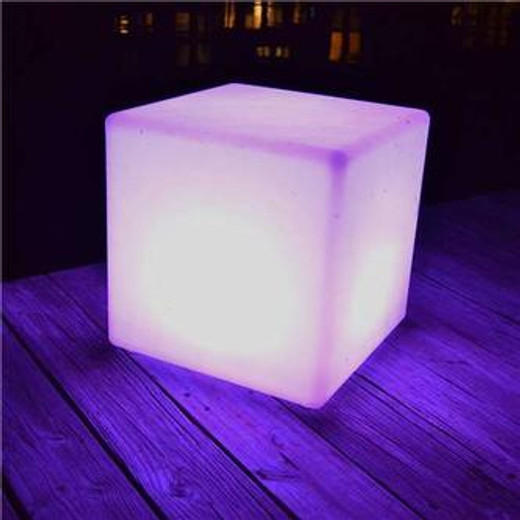 "Main Access The Block LED Light Decor 16"" x 16"""