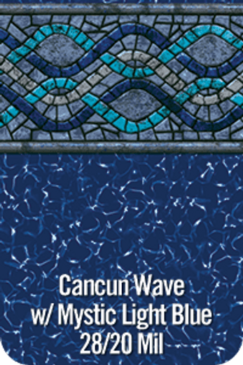 Cancun Wave  28 / 20 mil In Ground Pool Liner