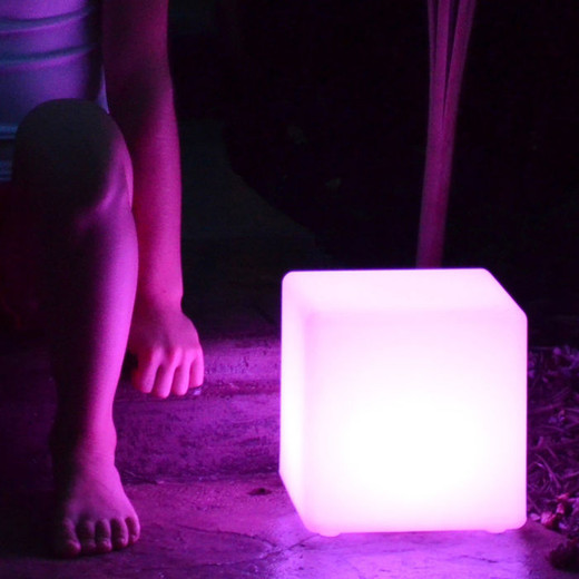 "Illuminate your Life 8"" Cube Waterproof LED Patio Light"